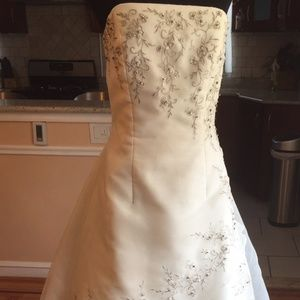 Forever Yours Floral Embroidered Wedding Gown
